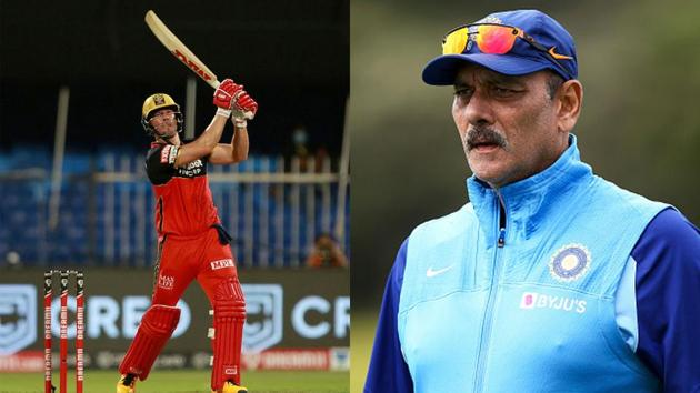 IPL 2020: Ravi Shastri tweeted that it would be better for the game if AB de Villiers ended his retirement.(IPL/Getty)