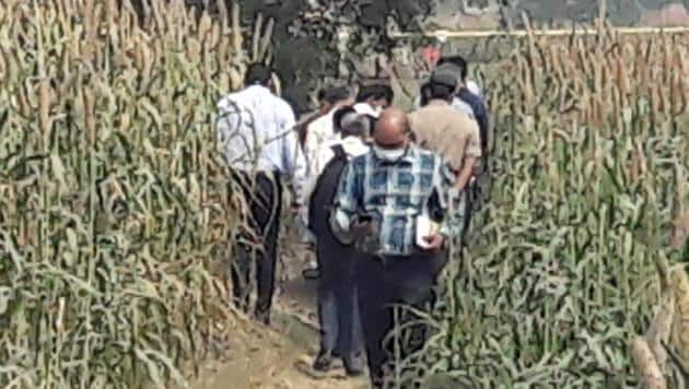 CBI officials at the crime spot in Uttar Pradesh's Hathras.(Photo: Sourced)