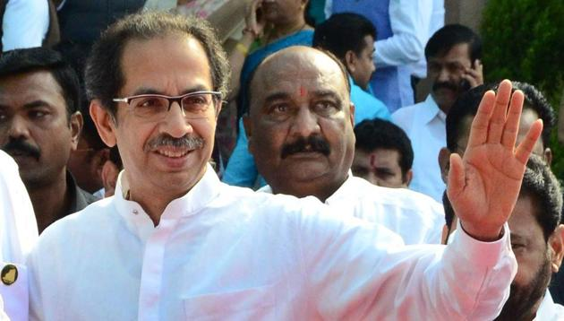 Shiv Sena's Thackeray is often criticised by its ally-turned-foe BJP for toning down his shrill pitch on Hindutva(File Photo, HT/PTI)