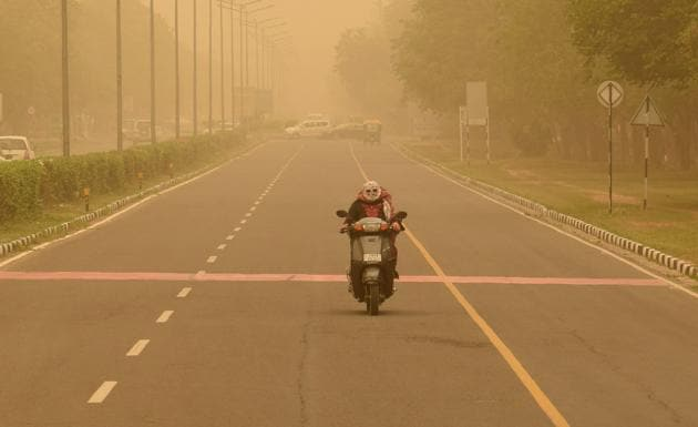 Expect haze in Chandigarh in the next few days.(HT photo)