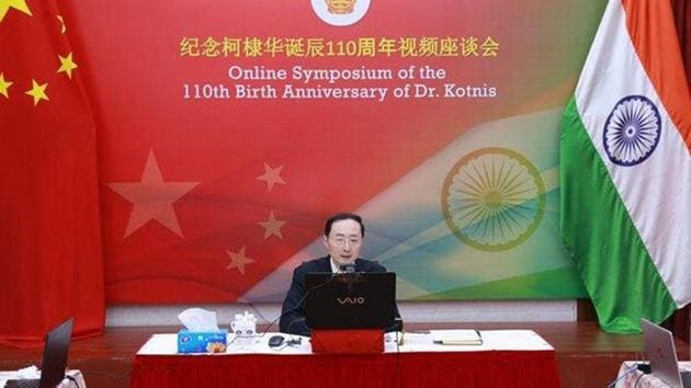 Sun Weidong made the remarks during his speech at an online symposium organised on Tuesday by the Chinese embassy to mark the 110th birth anniversary of Dwarkanath Kotnis, an Indian doctor revered by the Chinese people for his services during the Sino-Japanese war of 1938. (Photo@China_Amb_India)