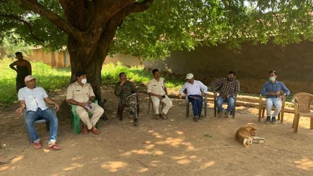 A police team has been deployed at the village in Gumla district to maintain peace.(HT PHOTO)