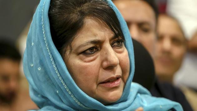 File photo of PDP chief Mehbooba Mufti.(AP)