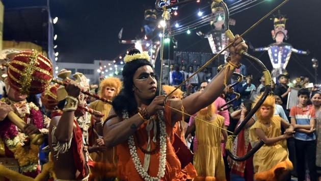 Ramlila celebrations in Delhi in 2019.(Photo: Sonu Mehta/HT)