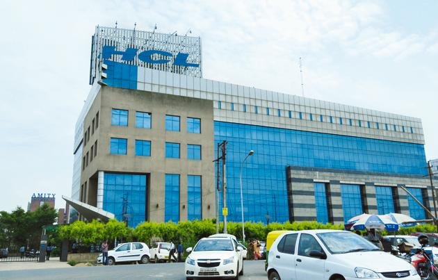 THCL Technologies' office is seen in Greater Noida in this file photo. On the S&P BSE Sensex, the stock opened with gains but failed to carry the momentum and dropped 4.47% to Rs 821 as the trade progressed.(File Phot)