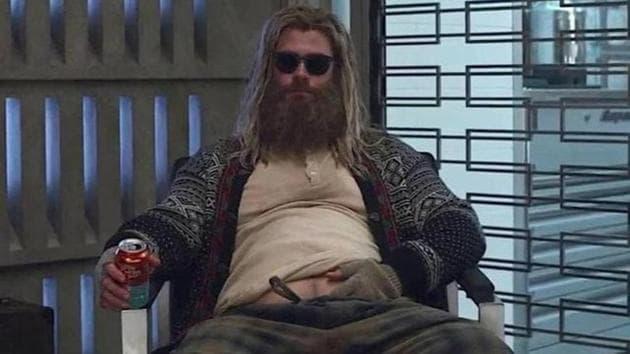 Chris Hemsworth as Thor in a still from Avengers: Endgame.