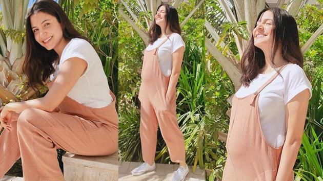 Anushka Sharma steps out in the sun in the UAE.