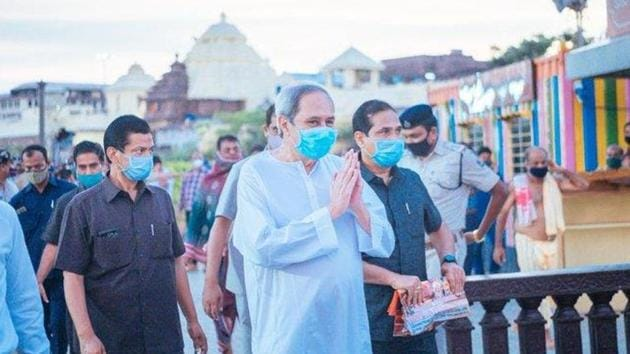 The move to have a special law for Lingaraj temple came after chief minister Naveen Patnaik's tour to Puri on Saturday to take stock of the Rs 3,200 crore package for infrastructure development of the temple town. (Photo @Naveen_Odisha)