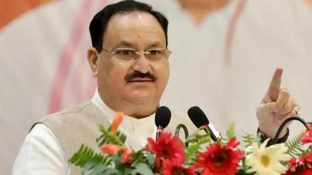 """BJP national president Jagat Prakash Nadda on Monday said that the Trinamool Congress (TMC) government in West Bengal has employed """"divide and rule policy"""" and only Prime Minister Narendra Modi has the ability to take everyone and grow together.(Photo: Twitter/ BJP4India)"""