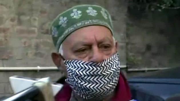 File photo: Former Jammu and Kashmir chief minister Farooq Abdullah.(ANI)
