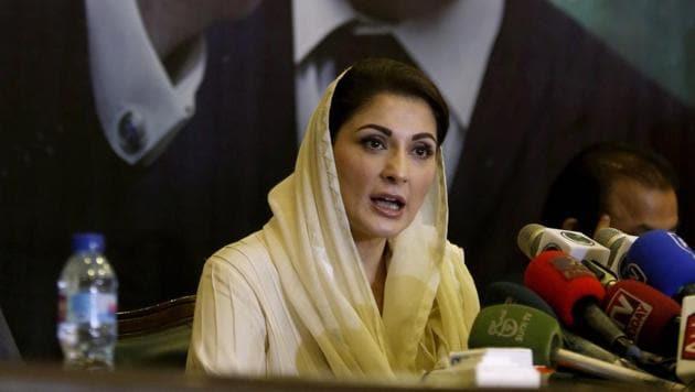 Maryam Nawaz, daughter of former Prime Minister Nawaz Sharif, gives a press conference. AP/PTI (AP28-09-2020_000231B)(AP)