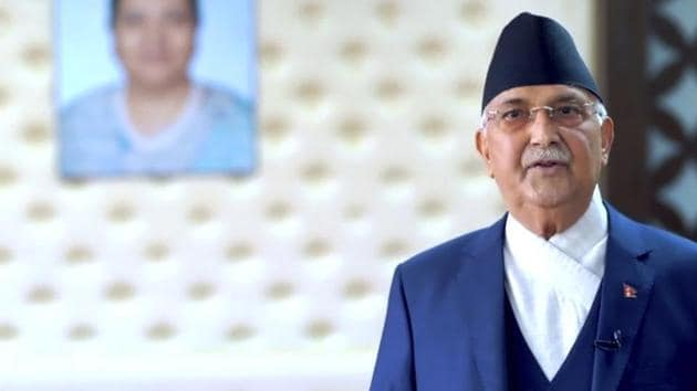 K. P. Sharma Oli, Prime Minister of Nepal, speaks in the 75th session of the United Nations General Assembly. Representational image.(AP)