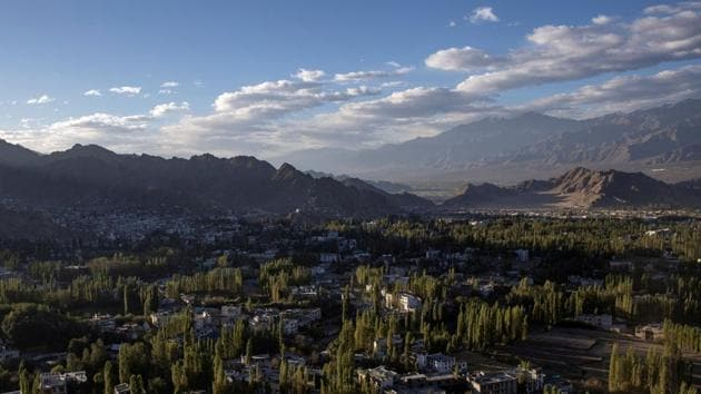 A general view of Leh, in the Ladakh region.(REUTERS/ File)