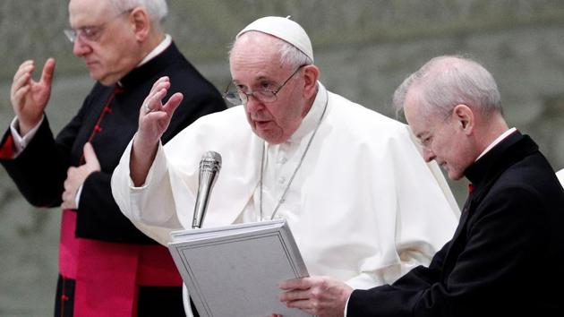 Pope Francis holds the weekly general audience, at the Vatican.(REUTERS)