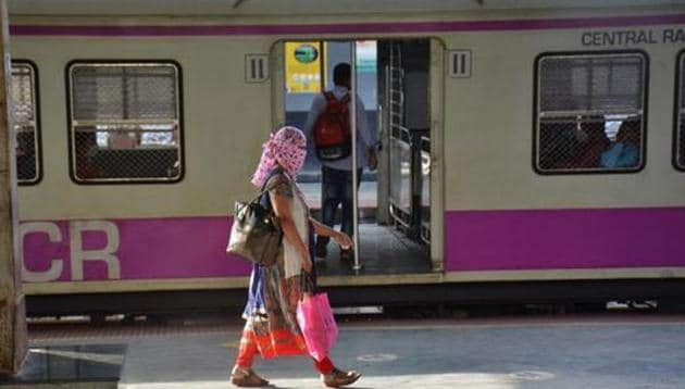Western and Central Railways authorities said women passengers do not need to show their identity cards or scan a QR code on their smart phones in their bid to travel by suburban trains.(Praful Gangurde)