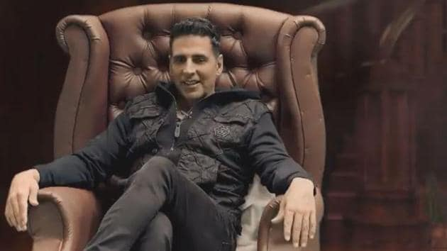Akshay Kumar in a still from the promotional video.