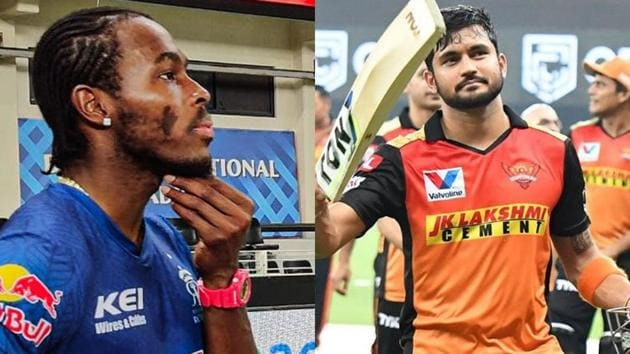 IPL 2020: Manish Pandey and Vijay Shankar played well against Jofra Archer, who was on fire.(Twitter)