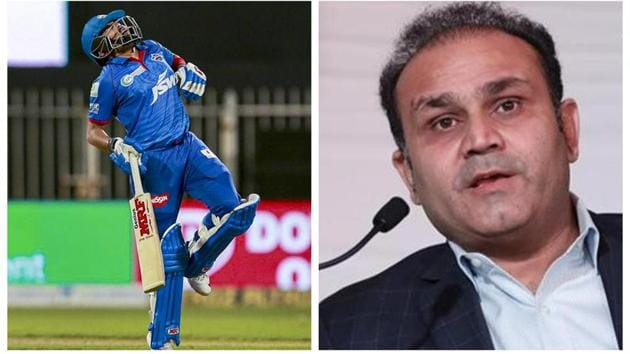 Prithvi Shaw and Virender Sehwag.(PTI/HT)
