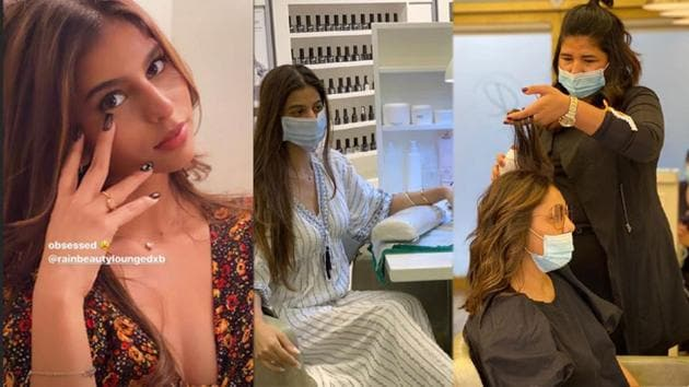 Suhana Khan and Gauri Khan visited a salon in UAE.