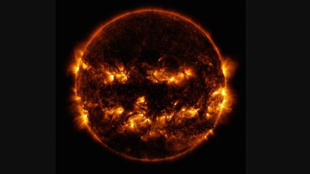 The image was shared on NASA Sun & Space Twitter account.(Twitter/@NASASun)