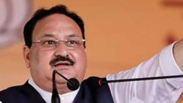 BJP National President J.P. Nadda was speaking after inaugurating two party offices and laying the foundation of six offices in various districts of the state.(PTI)