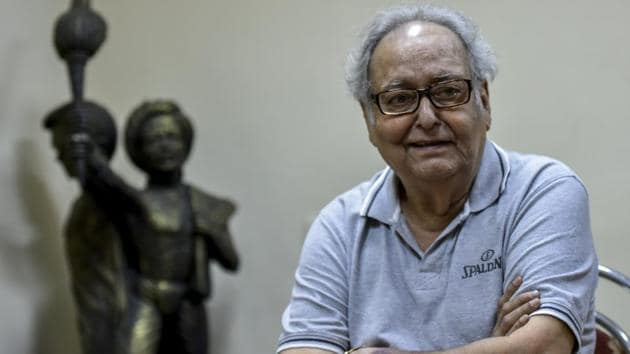 Soumitra Chatterjee's health condition has drastically worsened over the past two weeks.(Kunal Patil/HT File Photo)