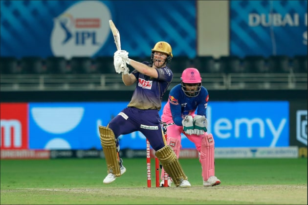 Eoin Morgan hits a fifty. (IPL/TwitteR)