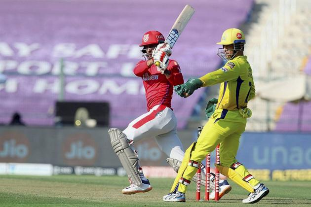 Abu Dhabi: Kings XI Punjab batsman Deepak Hooda plays a shot during the Indian Premier League (IPL) T20 cricket match against Chennai Super Kings, at Sheikh Zayed Stadium, in Abu Dhabi, Sunday, Nov. 1, 2020. (PTI Photo/Sportzpics for BCCI)(PTI01-11-2020_000129B) (PTI)