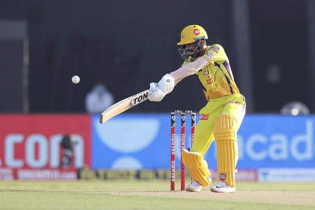 Abu Dhabi: Ruturaj Gaikwad of Chennai Super Kings plays a shot during Indian Premier League (IPL) 2020 cricket match against Kings XI Punjab, at Sheikh Zayed Stadium in Abu Dhabi, United Arab Emirates, Sunday, Nov. 1, 2020. (PTI Photo/Sportzpics for BCCI)(PTI01-11-2020_000158B) (PTI)