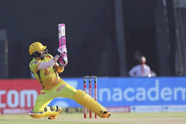 Abu Dhabi: Faf du Plessis of Chennai Super Kings plays a shot during Indian Premier League (IPL) 2020 cricket match against Kings XI Punjab, at Sheikh Zayed Stadium in Abu Dhabi, United Arab Emirates, Sunday, Nov. 1, 2020. (PTI Photo/Sportzpics for BCCI)(PTI01-11-2020_000163B) (PTI)