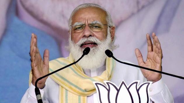 PM Modi also expressed confidence in forming his government in Bihar once again.(PTI)