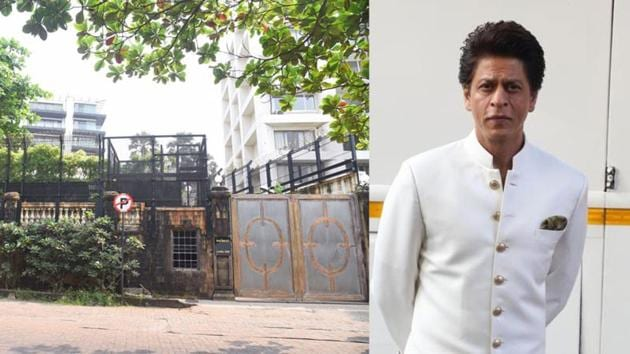 Shah Rukh Khan's Mannat on his 55th birthday on Monday.(Varinder Chawla)