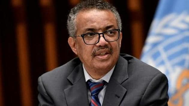 Tedros Adhanom Ghebreyesus said on Sunday that he had been identified as a contact of someone who tested positive for Covid-19(REUTERS)