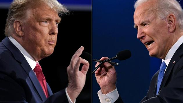 US President Donald Trump (L) and Democratic Presidential candidate and former US Vice President Joe Biden(AFP photo)