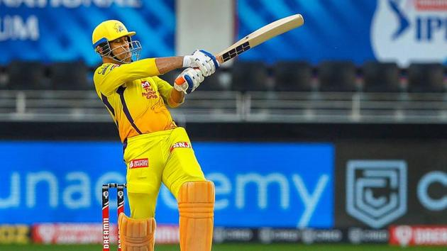 MS Dhoni captain of Chennai Superkings plays a shot during the Indian Premier League (IPL)(PTI)