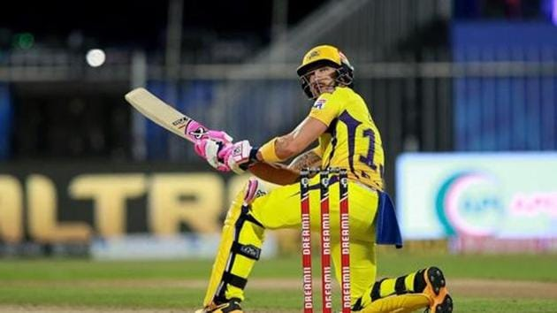 Faf du Plessis in action for CSK in IPL 2020.(PTI)