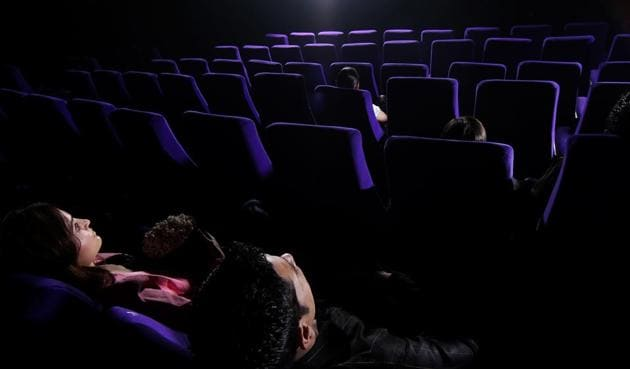 Some multiplexes are giving an option of private screening to woo customers.(Ronjoy Gogoi/HT)