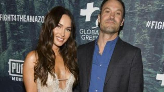 Megan Fox poses with former husband Brian Austin Green.