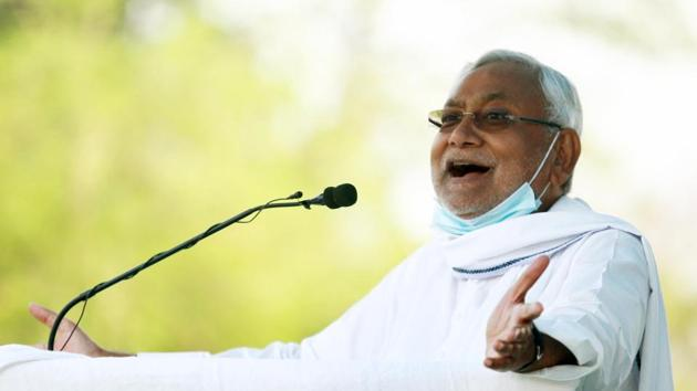 Bihar chief minister Nitish Kumar.(Santosh Kumar/HT Photo)