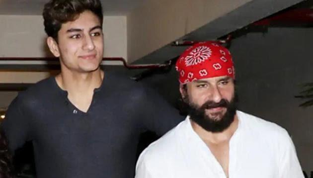 Saif Ali Khan with son Ibrahim.