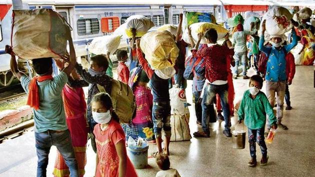 Government also launched a job programme, Garib Kalyan Rojgar Abhiyan for migrants to offer them works under 25 schemes worth Rs 50,000 crore.(File photo for representation)