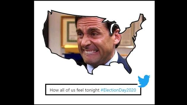 The image shows a meme shared by a netizens for the US Election 2020.(Twitter)