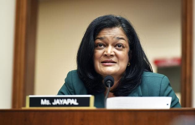 Rep. Pramila Jayapal, D-Wash., speaks during a House Judiciary subcommittee on antitrust on Capitol Hill in a Wednesday, July 29, 2020,file photo, in Washington (File Photo: AP/PTI)