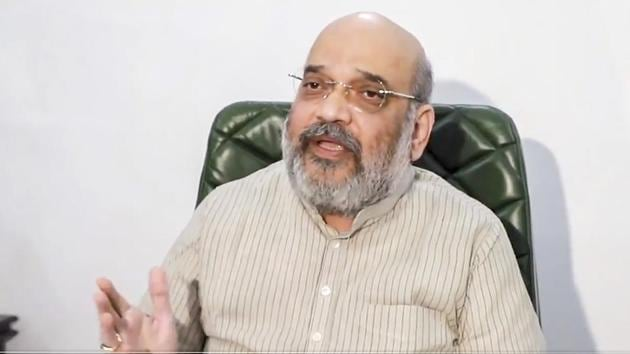 Union Home Minister Amit Shah is likely to take stock of the Bharatiya Janata Party's organizational preparedness for the 2021 assembly election in West Bengal next year.(PTI)
