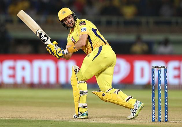 IPL 2020: Shane Watson of the Chennai Super Kings bats(Getty Images)