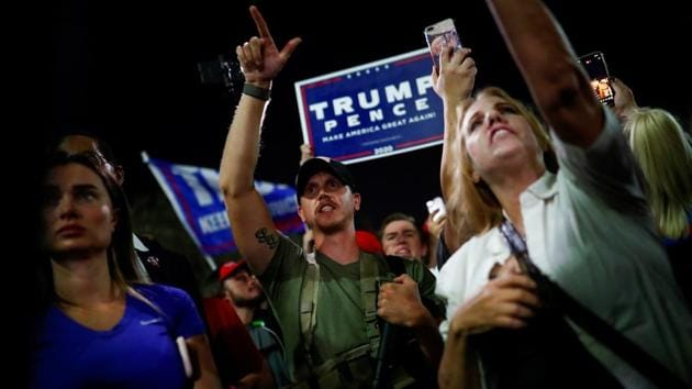 Arizona Trump voters had began to question whether ballots had been counted(REUTERS)
