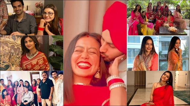 From Neha Kakkar to Kareena Kapoor Khan, here's who wore what on Karwa Chauth 2020(Instagram)