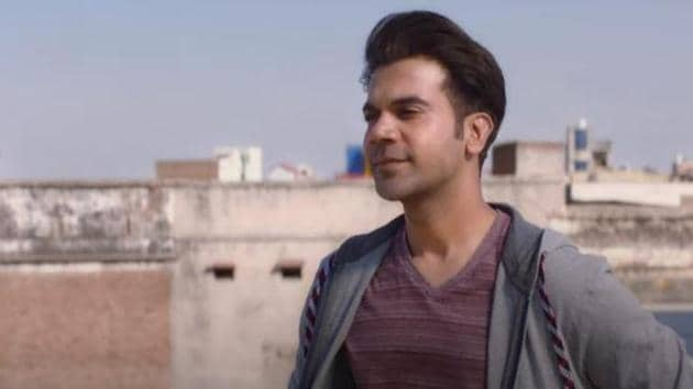 Rajkummar Rao in a still from the Le Chhalaang video.