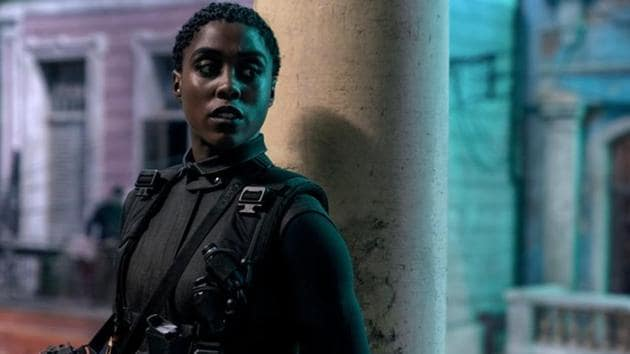 Lashana Lynch as Nomi, in a still from No Time to Die.