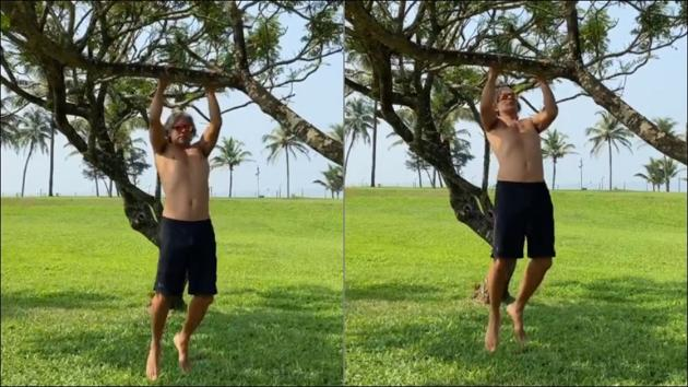 Milind Soman's bare torso workout makes fans go weak in the knees(Instagram/milindrunning)